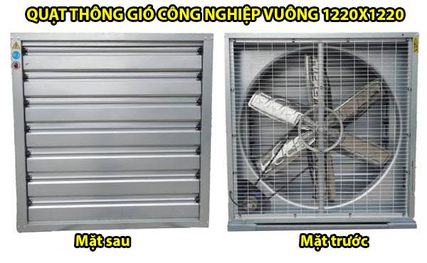 Quạt thông gió công nghiệp vuông 1220x1220