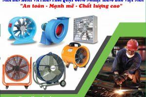 Các loại quạt công nghiệp được sử dụng phổ biến hiện nay