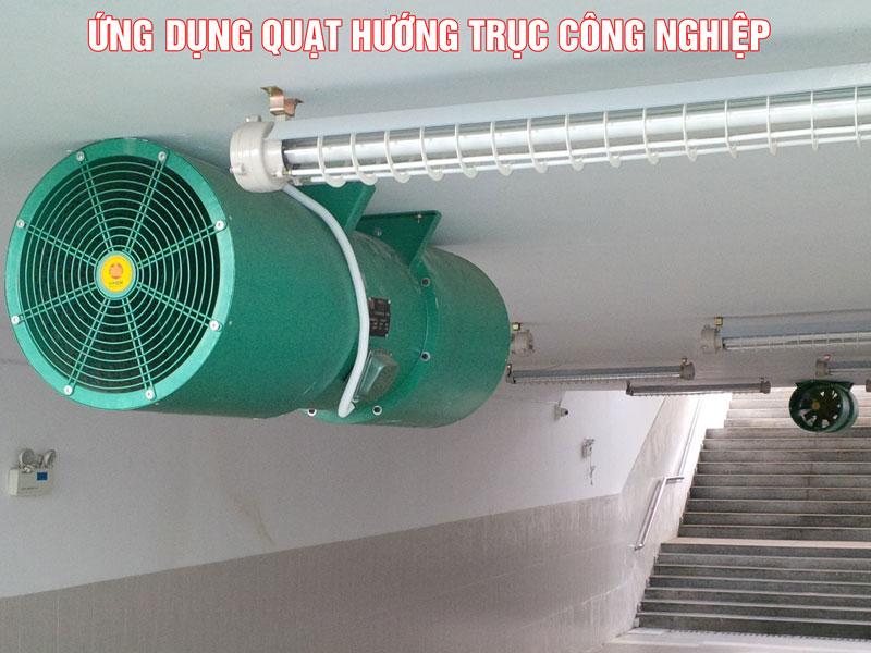 Ứng dụng của hút gió hướng trục công nghiệp