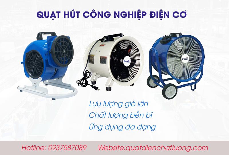 ưu điểm quạt hút công nghiệp điện cơ