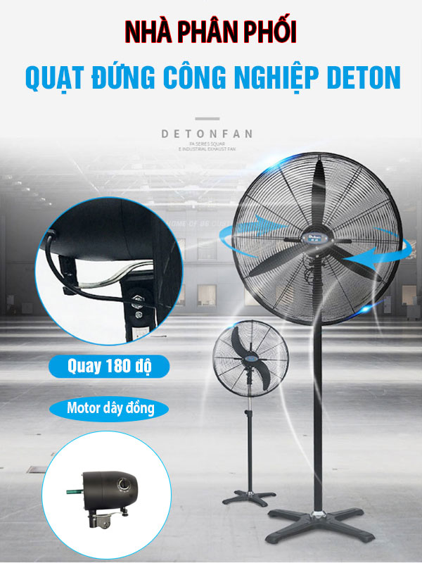 Quạt đứng công nghiệp Deton DHF 750